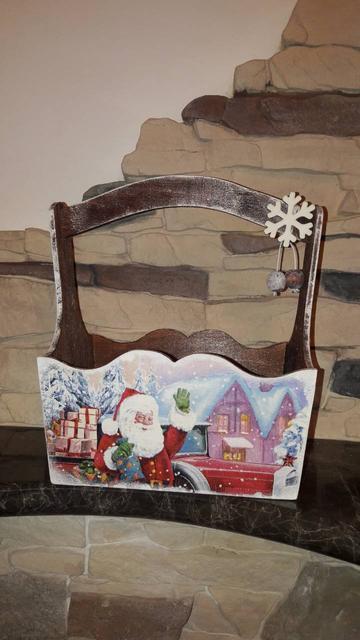 Декоративные новогодние ящики из дерева