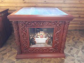 Різьблене одягання на престол (1,25 х 1,25 м)