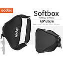 Софт-бокс для накамерных вспышек GODOX 60х60 см., фото 3