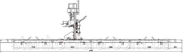 Станина из четырех сегментов по 1950 мм ленточной пилорамы Wood-Mizer LT15