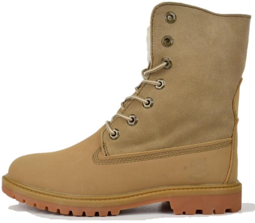 c4e72e8d Женские ботинки Timberland Boot camel (Тимберленд, цвет песочный) внутри  мех - Магазин обуви