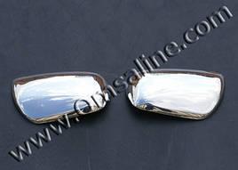 Накладки на зеркала (2 шт, нерж) - Daihatsu Materia 2006+ гг.