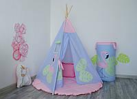 """Вигвам детский """"Фламинго"""" с круглым ковриком, фото 1"""