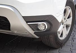 Накладки на противотуманки (2 шт., нерж) - Dacia Duster 2018+ рр.
