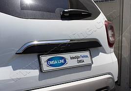 Накладка над номером (нерж) - Dacia Duster 2018+ рр.