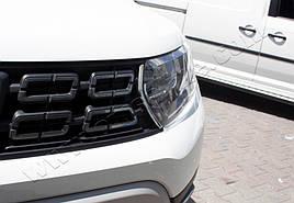 Накладки на решітку (2 шт., нерж) - Dacia Duster 2018+ рр.