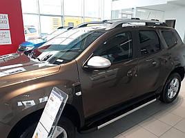 Бічні підніжки DURU (2 шт, алюміній ) - Dacia Duster 2018+ рр.
