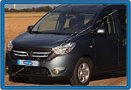 Накладки на решетку (4 полоски, нерж.) - Dacia Dokker 2013+ гг.