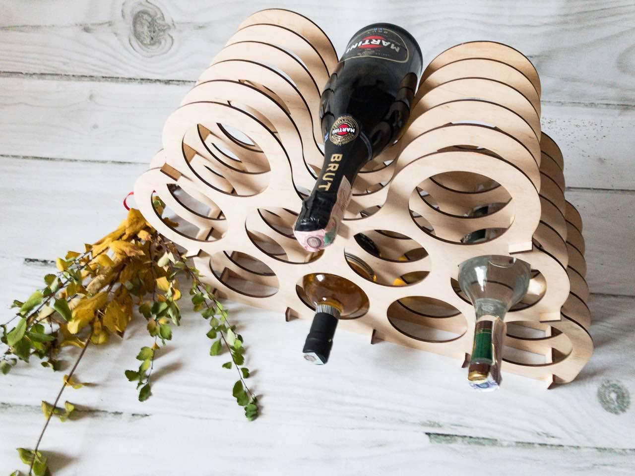 Подставка для бутылок мини бар ( 10+ 1 ячейка)