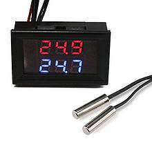Цифровой термометр с двумя выносными датчиками