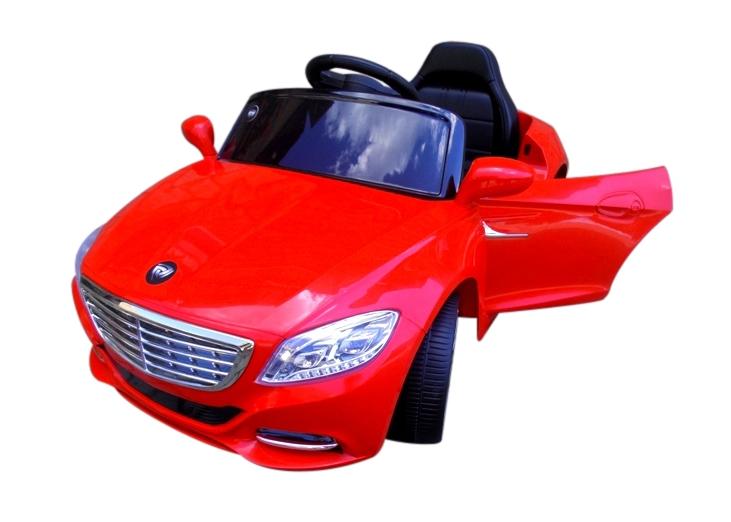 Детский электромобиль на аккумуляторе Cabrio S1 с мягкими колесами и пультом управления EVA красный