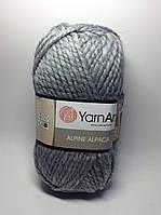 Пряжа alpine alpaca - цвет серый