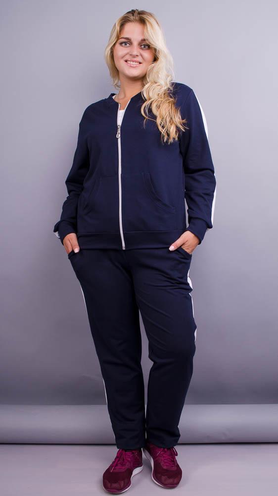 Люси. Спортивный костюм женский супербатал. Синий.