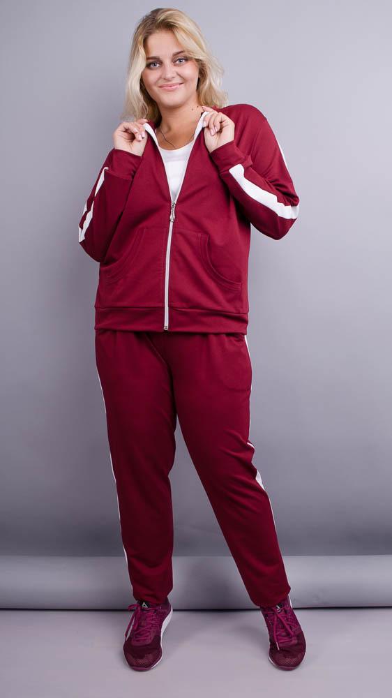 Люсі. Спортивний костюм plus size. Бордо.