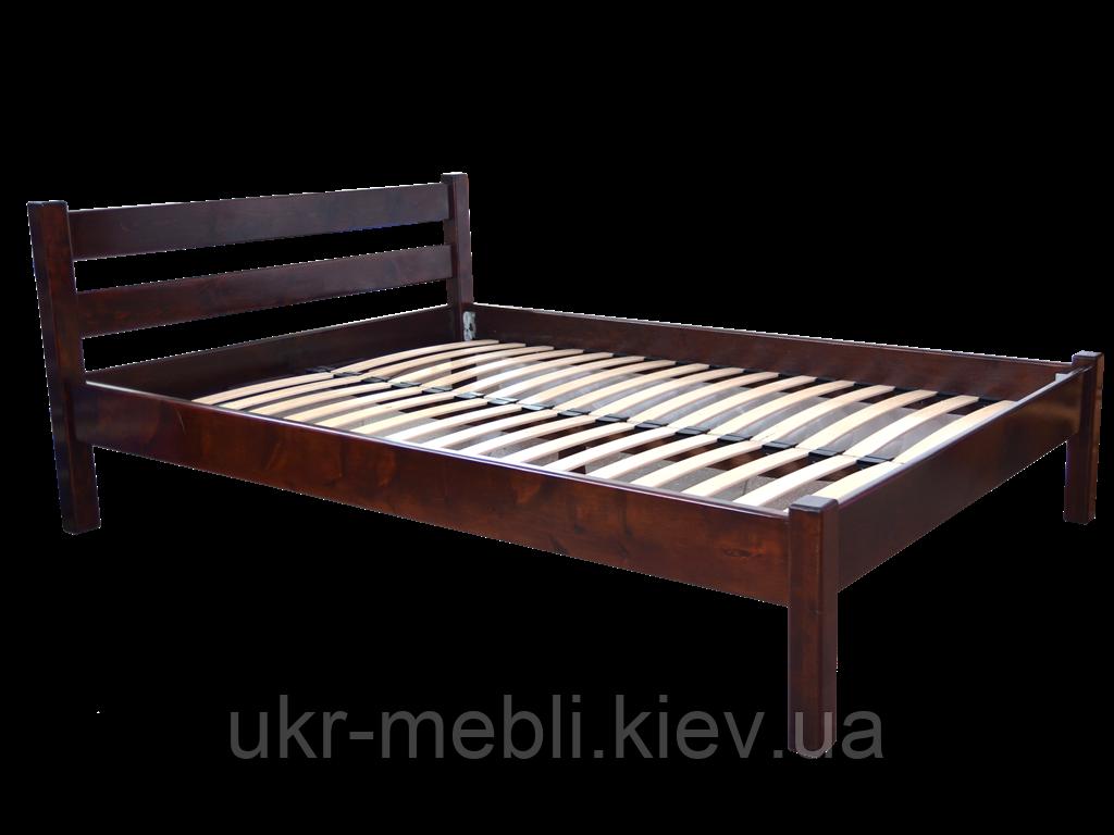 Кровать деревянная Модерн 140*200, ольха массив
