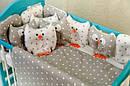 Постільна білизна з бортиками в ліжечко «Сови з зірочками», фото 2