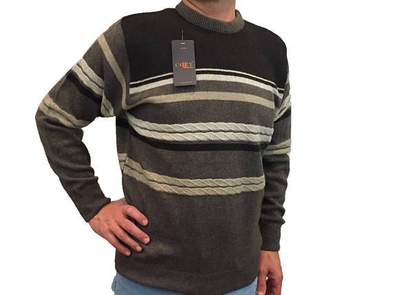 Мужской теплый свитер № 1720 коричневый, фото 2