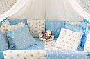 Комплект в кроватку для новорожденных «Облако» —  17 предметов, для мальчика, фото 3