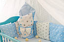 Комплект в кроватку для новорожденных «Облако» —  17 предметов, для мальчика, фото 5