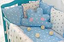 Комплект в кроватку для новорожденных «Облако» —  17 предметов, для мальчика, фото 2