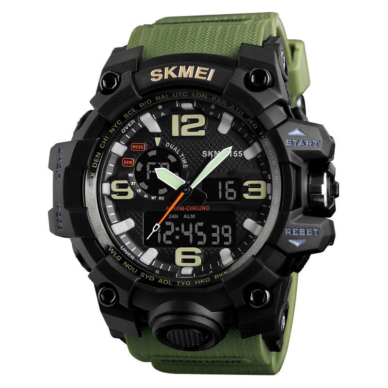 • Оригинал! Skmei(Скмей) 1155 HAMLET Green Тактические мужские часы!