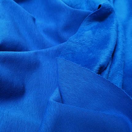 Трикотаж на хутрі синій електрик, фото 2