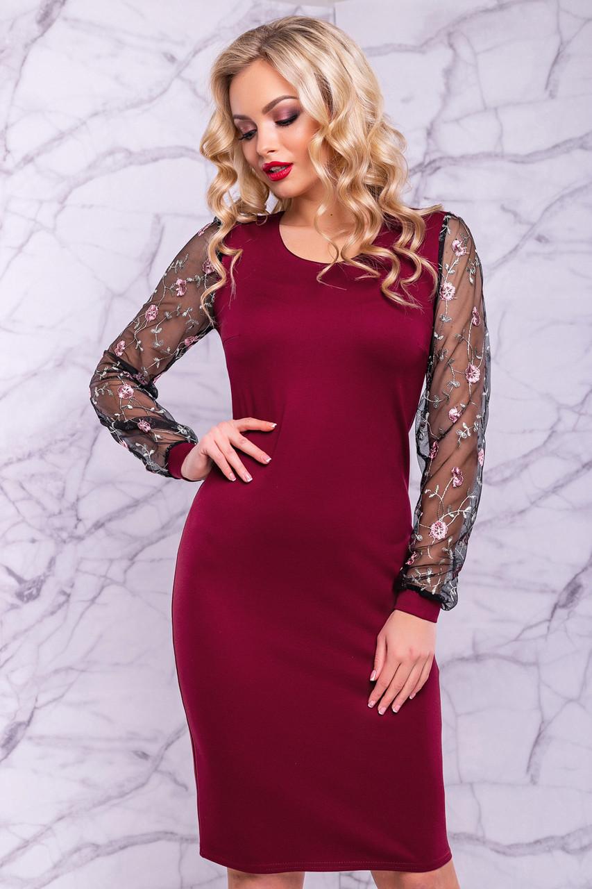 46dc7c29bf5 Элегантное женское платье-футляр (джерси