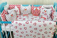 Комплект в кроватку для новорождённых Совы