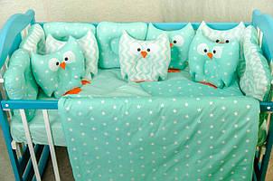 Набір в ліжечко для новонароджених «Сови»