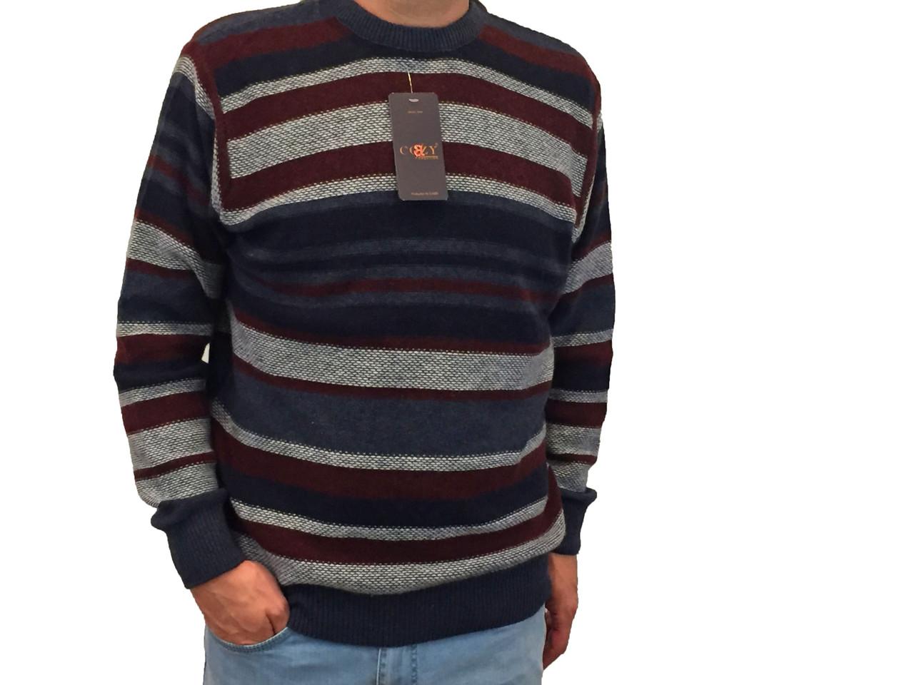 Мужской теплый свитер № 1730 синий