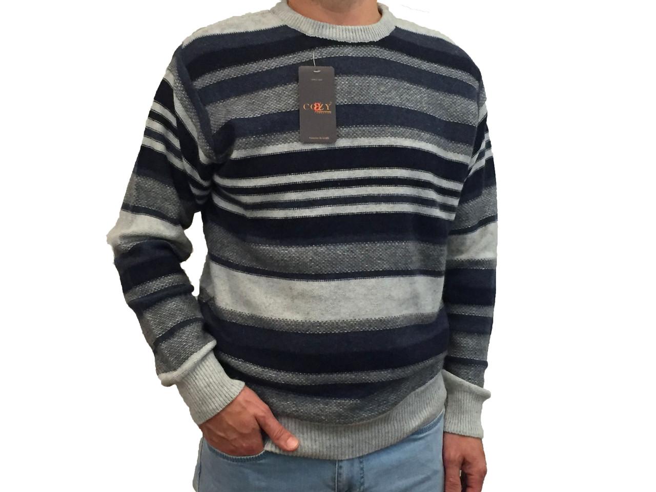 Мужской теплый свитер № 1730 серый