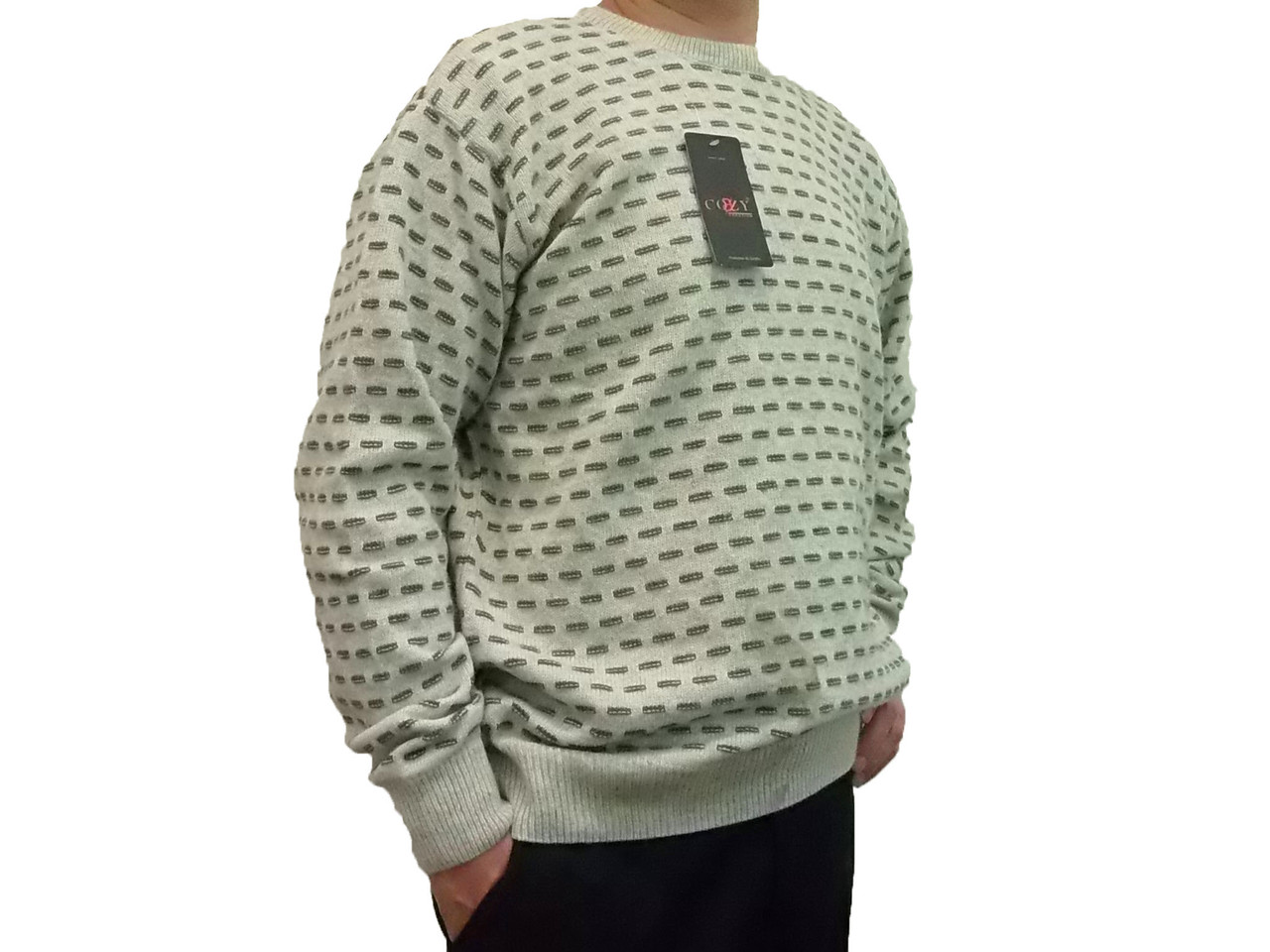 Чоловічий теплий светр № 1695 сірий