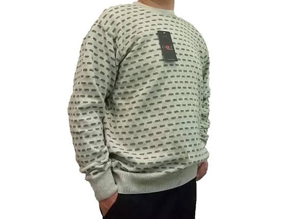 Чоловічий теплий светр № 1695 сірий, фото 2