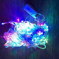 Новогодняя гирлянда 18м, 300LЕD разноцветная(белый провод)Led Ligt WLZ