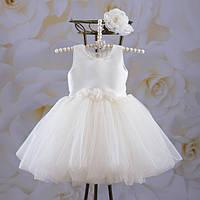"""Сукня """"Емілія"""" з пов'язкою Атлас, фатин на зростання від 56 до 116 см"""