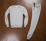 Мужской зимний спортивный костюм Lacoste Grey