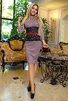 """Стильное платье мини """" Полоски """" Dress Code , фото 1"""