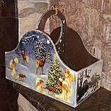 Ящик новогодний, декупаж, дерево фанера, ручная работа, 26х30х16см., 450/420 (цена за 1 шт. + 30 гр.), фото 2