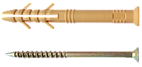 Дюбель с ударным шурупом 10х135мм,быстрый монтаж, потай (полипропилен)