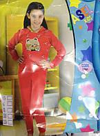 Теплый костюм для девочки трехнить с капюшоном