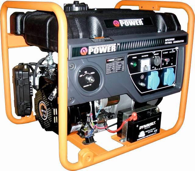 Бензогенератор Q-POWER QPG3000Е 2,6 (3,0) кВт