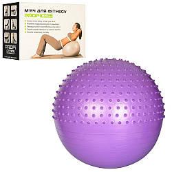 М'яч для фітнесу-65см MS 1652 (12шт) Фітбол масаж,1100г,3ол, Anti-Burst System, в кор-ке, 24-18-10см