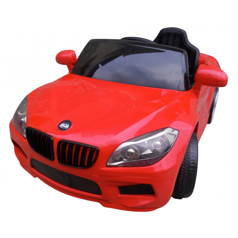Детский электромобиль на аккумуляторе Cabrio B14 красный с пультом управления (чудомобиль)