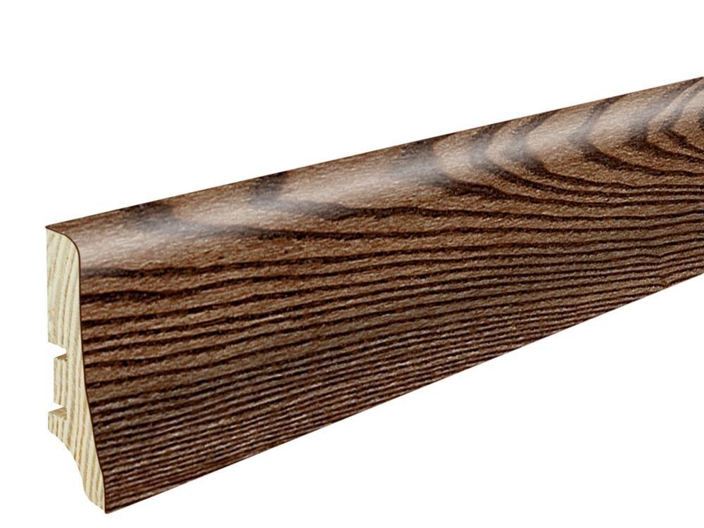 Плінтус Барлінек Ясен, кава висота 58 мм