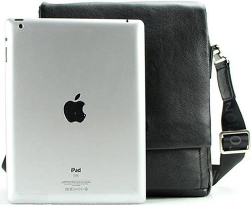 Мужская современная сумка-планшет на плечо из кожи Тоfionno 049527-3 черная