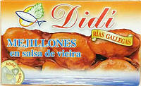 Мидии Didi mejillones en salsa de vieira 120 мл