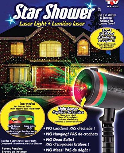 Лазерный звездный проектор star shower laser light для дома и улицы, фото 1