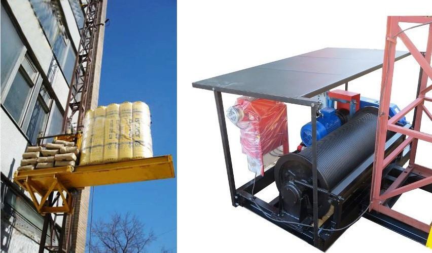 Высота подъёма Н-49 метров Мачтовый-мачтовые подъёмник-подъёмники для строительства грузовой  ПМГ г/п 500 кг .