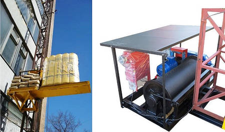 Высота подъёма Н-49 метров Мачтовый-мачтовые подъёмник-подъёмники для строительства грузовой  ПМГ г/п 500 кг ., фото 2