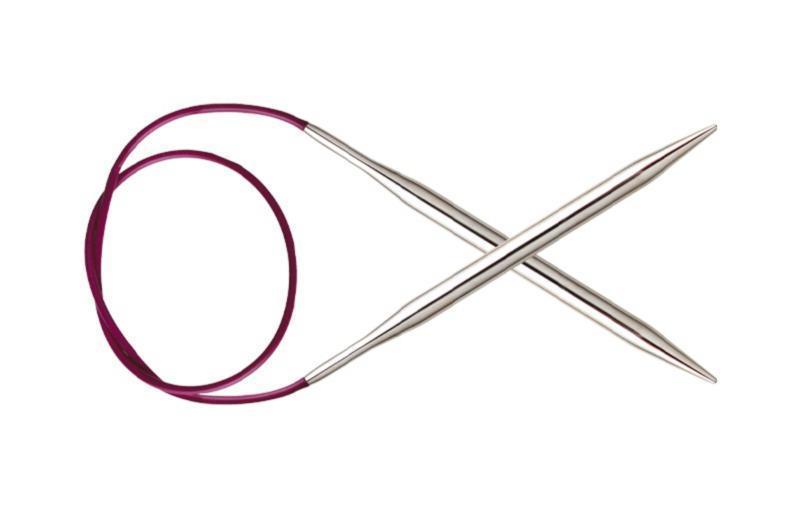 Спицы круговые KnitPro, Nova Metal, 25см 3.5мм